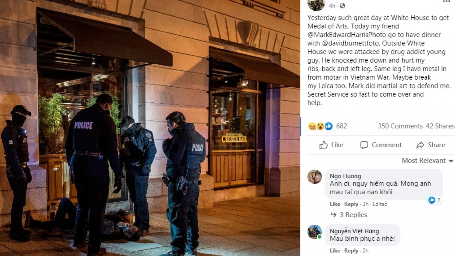 Nhiếp ảnh gia chiến trường Nick Út bị gã nghiện hành hung tại Mỹ