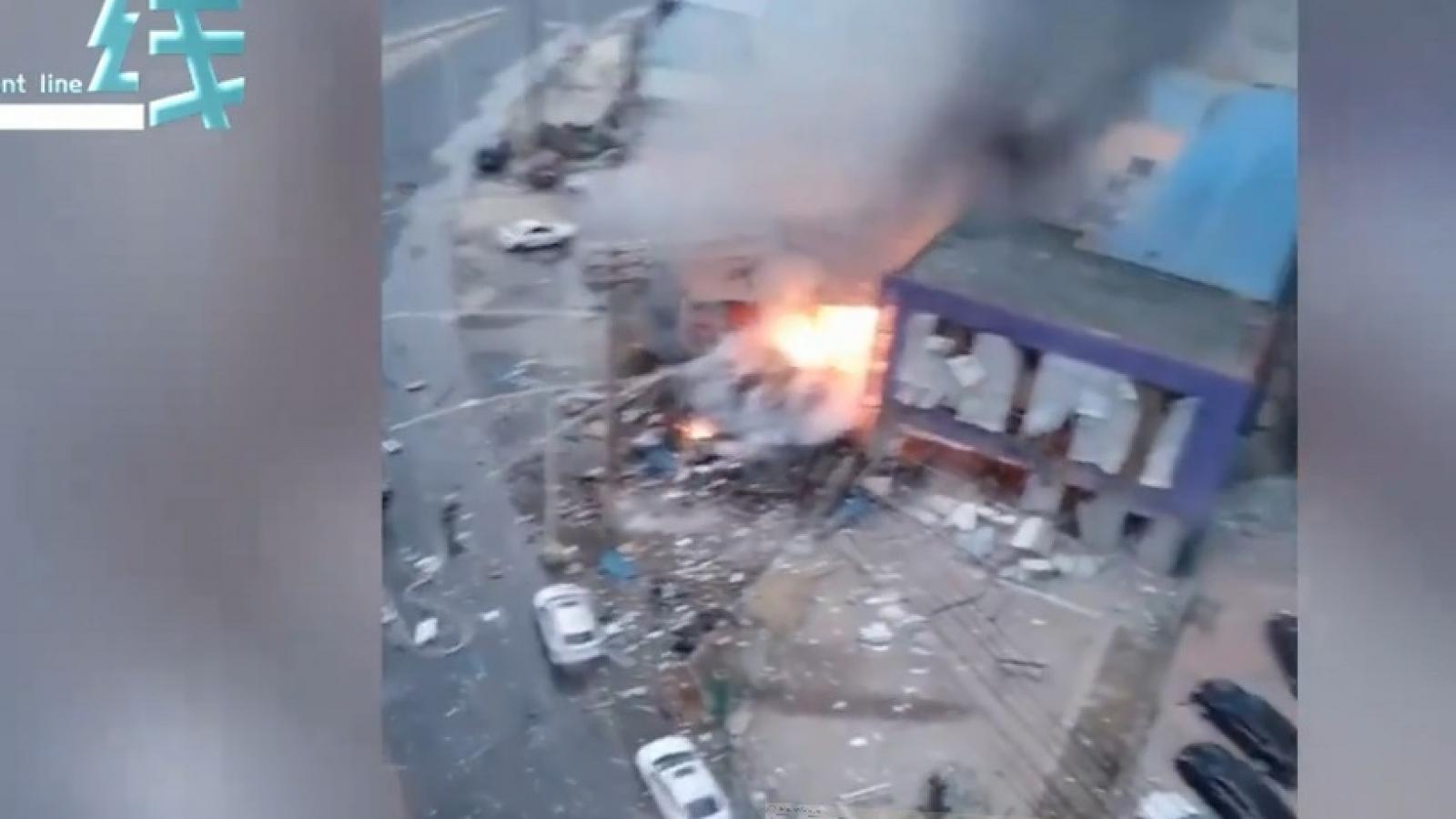 Video: Nổ đường ống dẫn khí đốt ở khu dân cư Trung Quốc, hơn chục người thương vong