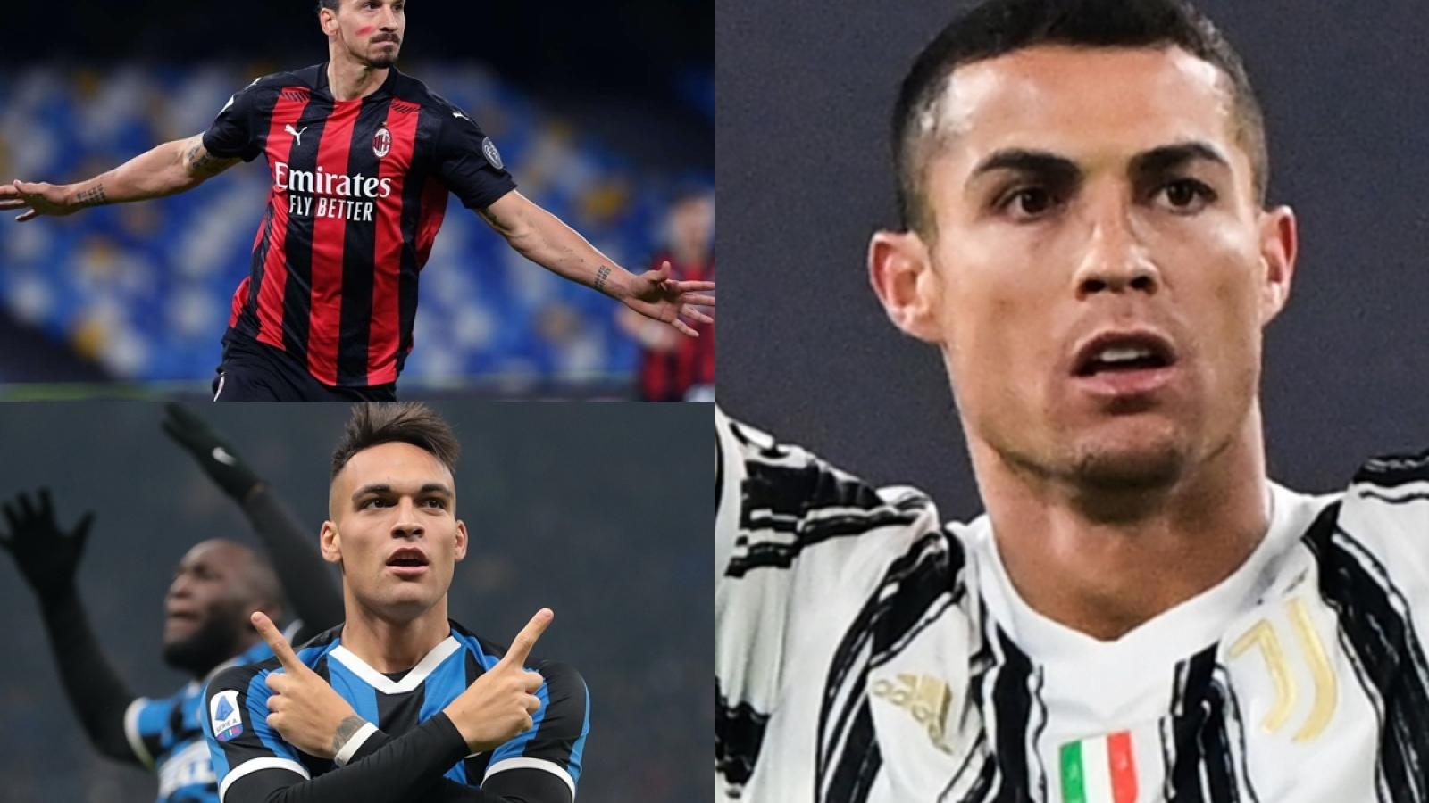 """Cuộc đua """"vua phá lưới"""" Serie A: Ronaldo chiếm thế thượng phong"""