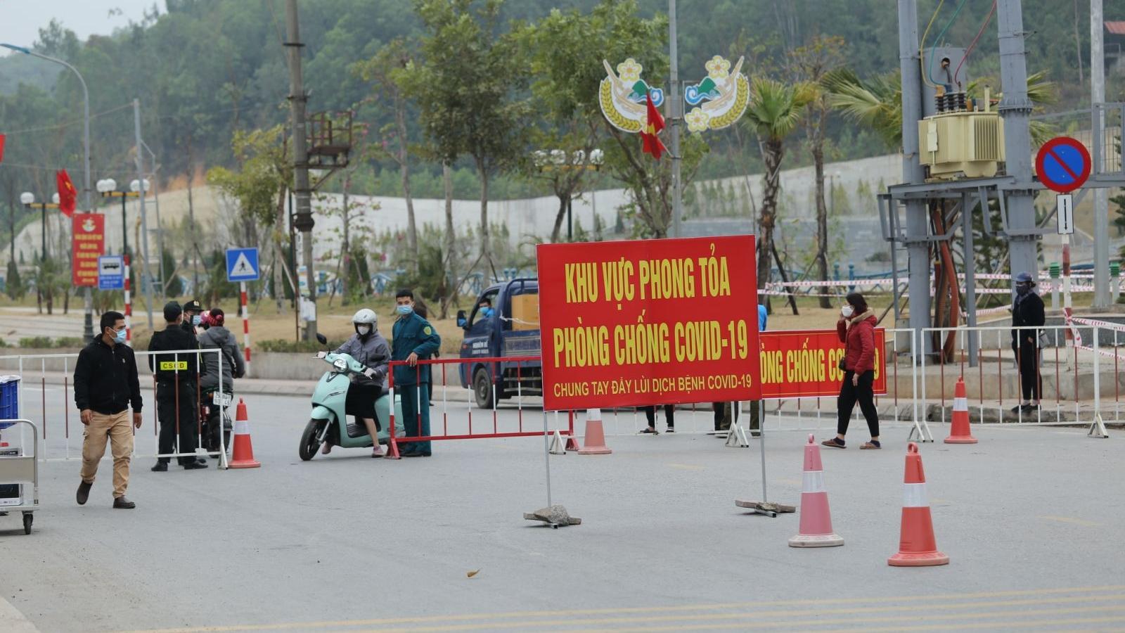 Quảng Ninh phong tỏa thêm nhiều điểm dân cư do dịch bệnh diễn biến phức tạp