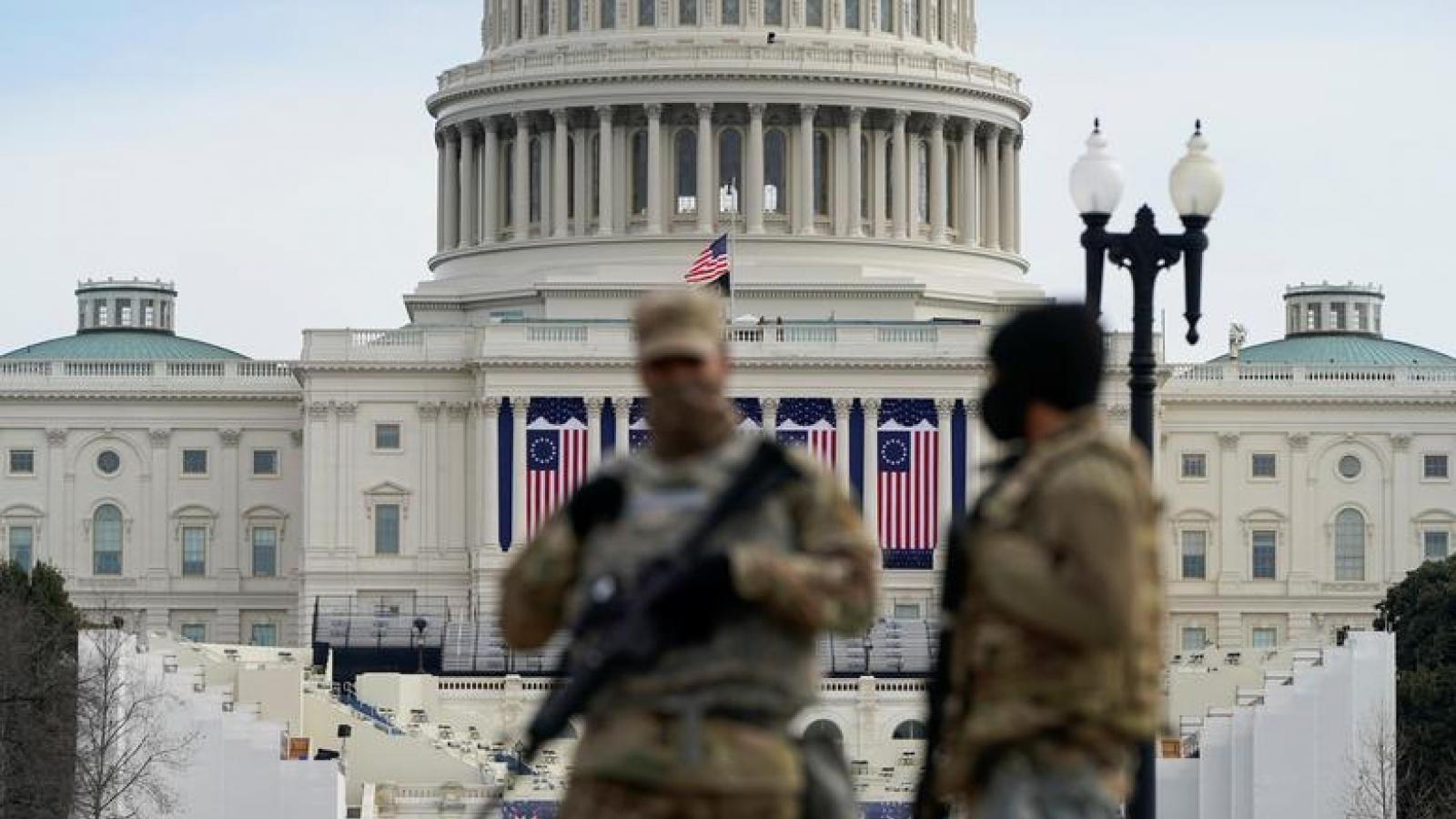 Tòa nhà Quốc hội Mỹ bị phong tỏa khi đang diễn ra diễn tập cho lễ nhậm chức tổng thống