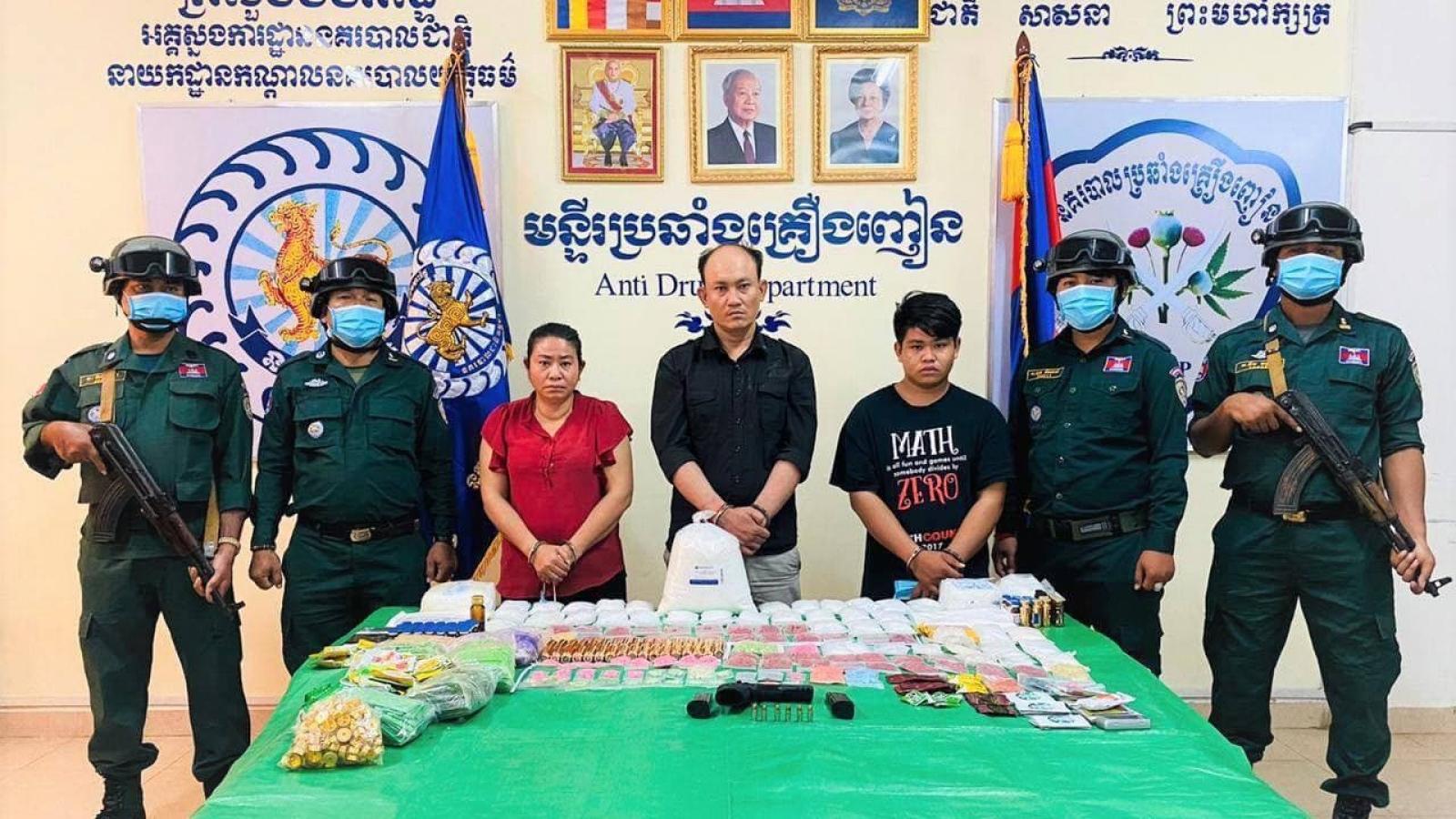 Campuchia bắt hơn 20.000 đối tượng liên quan đến ma túy trong năm 2020
