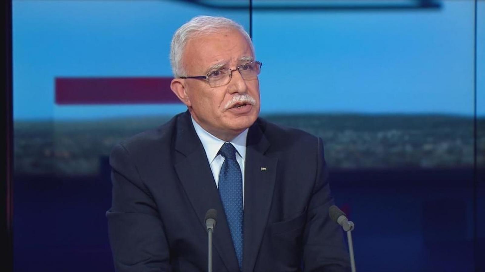 Palestine kêu gọi nối lại đối thoại nhóm Bộ tứ Trung Đông sau thông báo của Mỹ