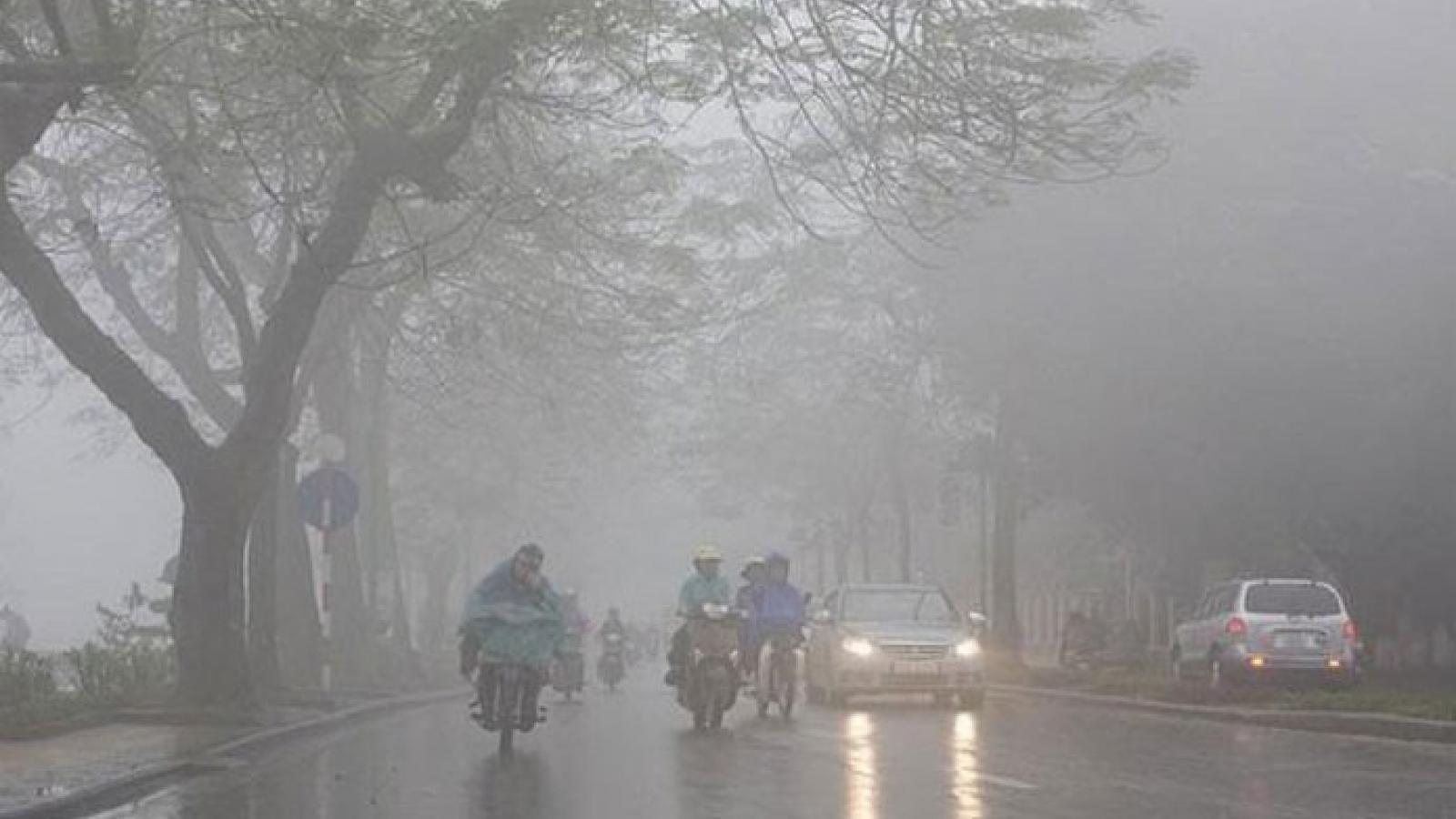 Dự báo thời tiết ngày 26/1: Hà Nội trời có sương mù, mưa phùn