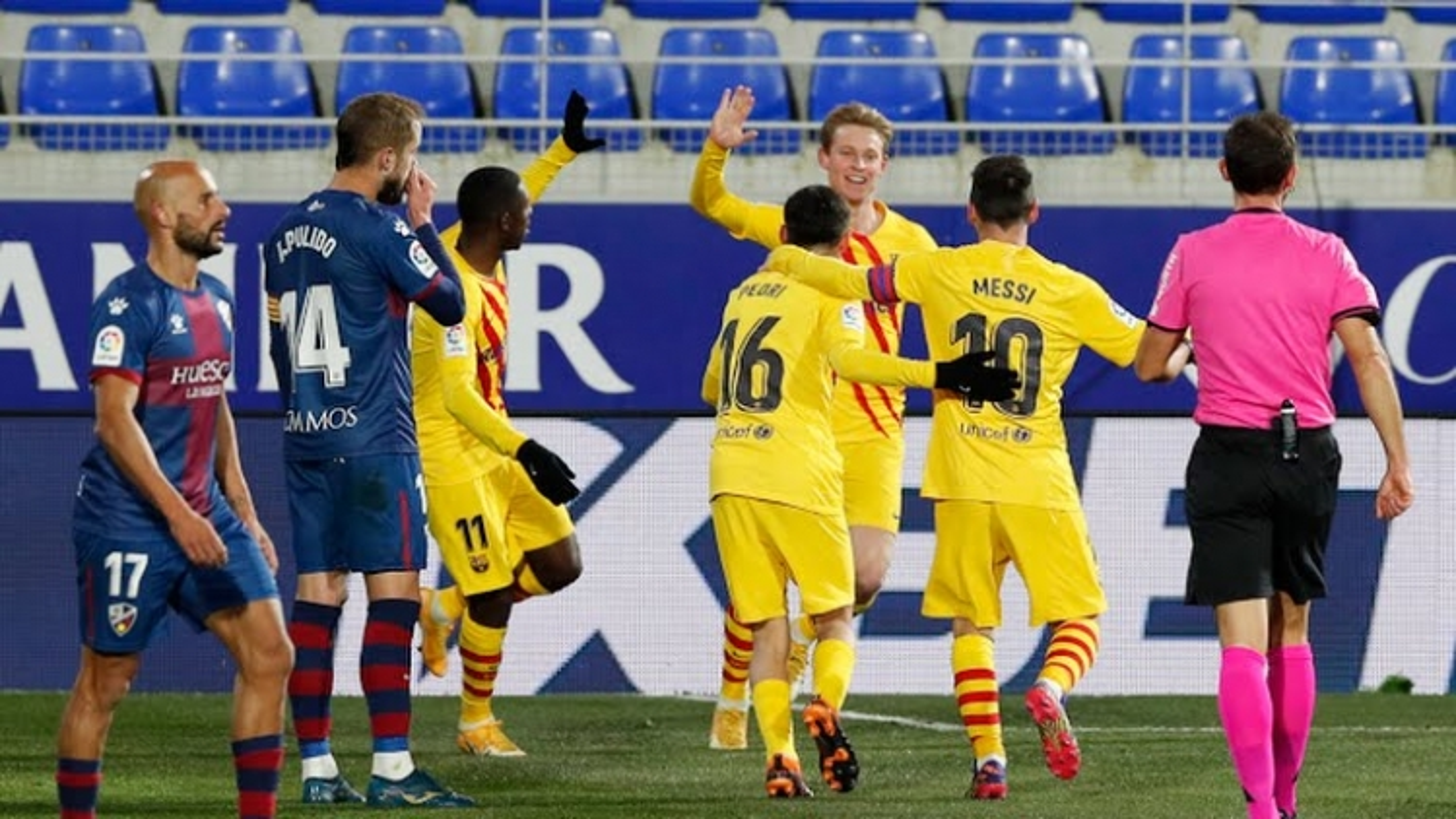 Messi kiến tạo siêu đẳng, Barca đánh bại SD Huesca