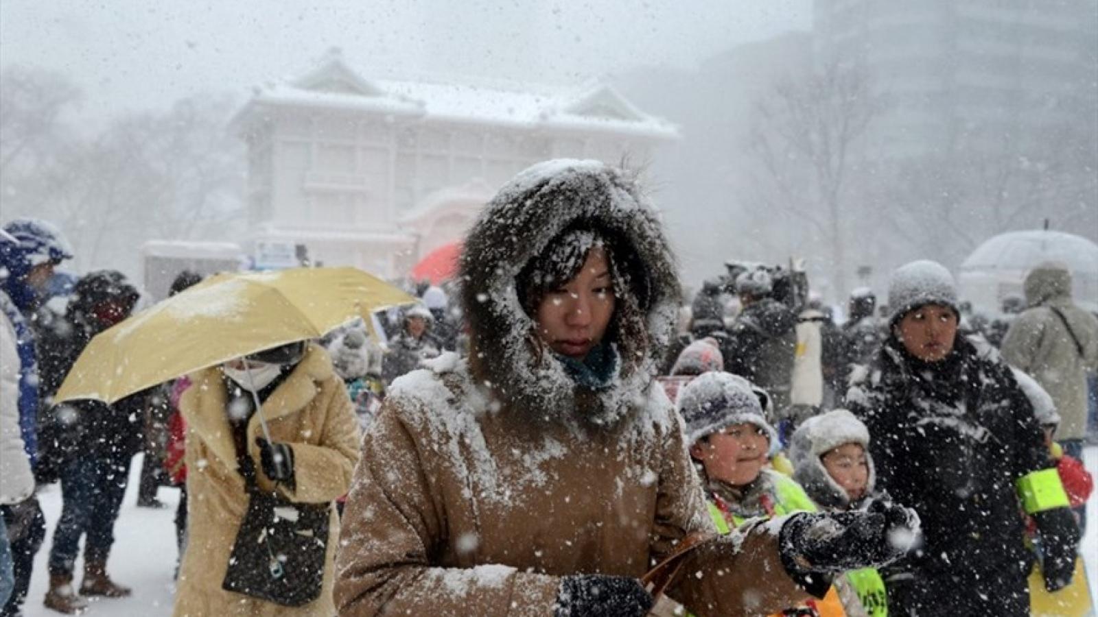Tuyếtrơi dày tại Nhật Bản khiến hàng chục người thiệt mạng