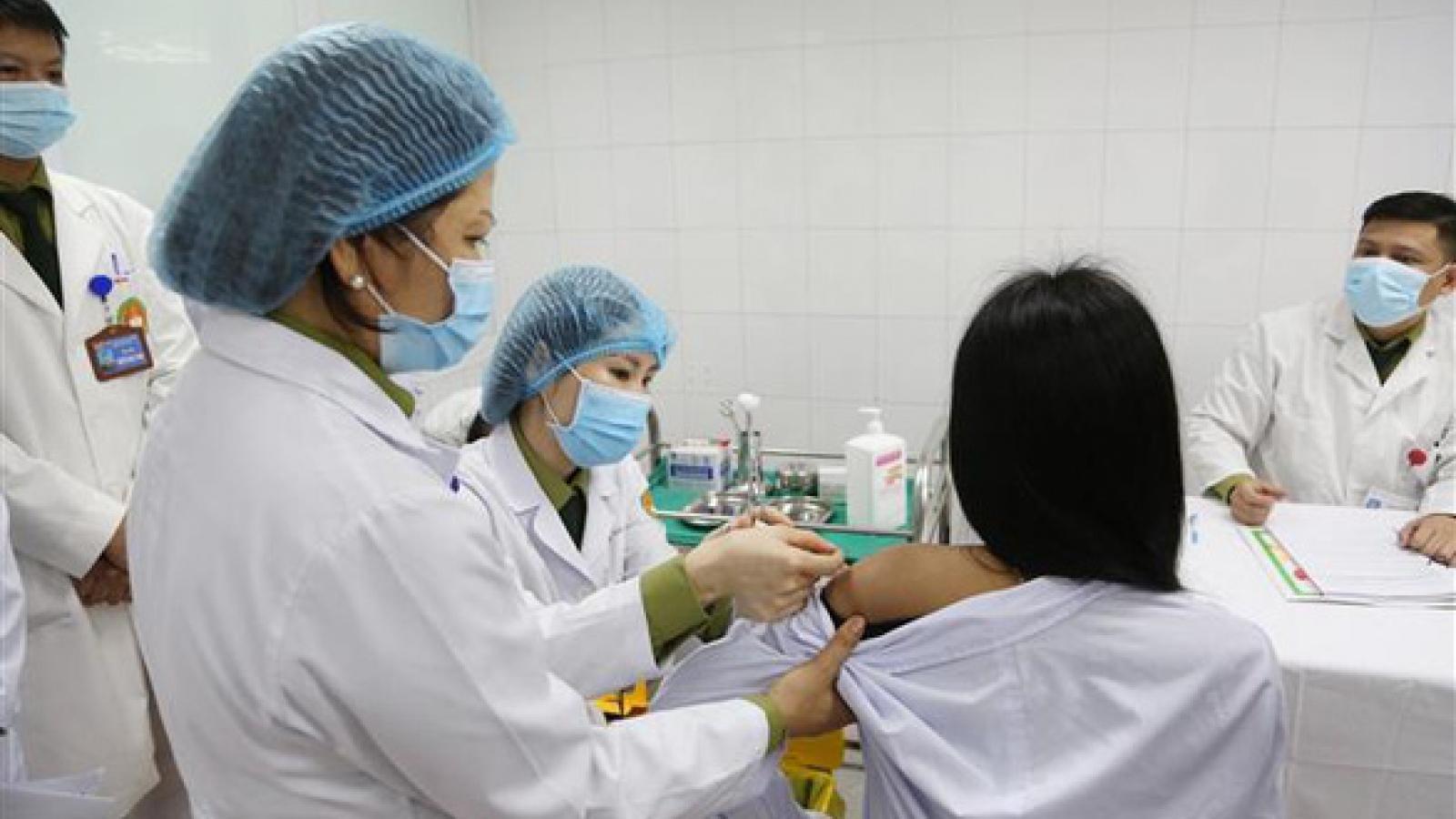 Tiến trình tiêm thử nghiệm trên người vaccine ngừa Covid-19 ở Việt Nam