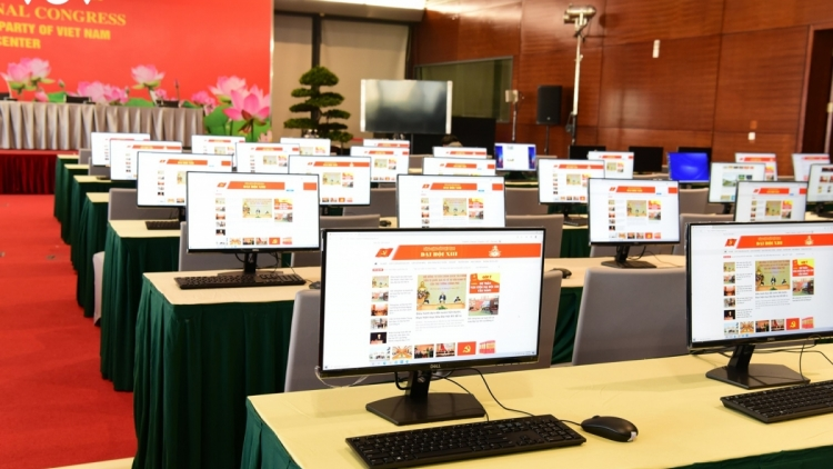 Press Centre for 13th National Party Congress ready to open on January 22