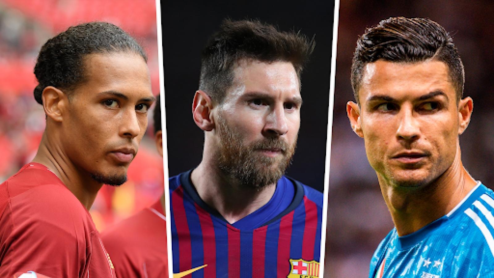 """Van Dijk """"sát cánh"""" cùng Messi và Ronaldo ở đội hình tiêu biểu của thập kỷ"""