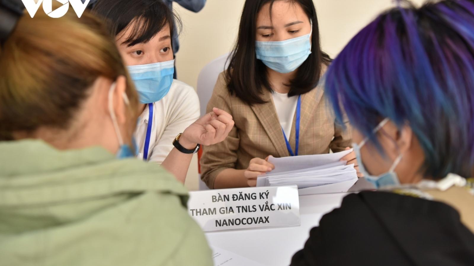 Ngày 12/1, tiêm thử nghiệm vaccine Nanocovax liều cao nhất