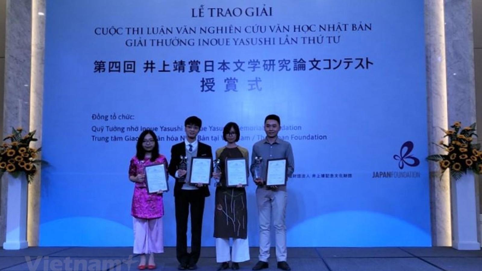 Four Vietnamese authors awarded Inoue Yasushi Prize