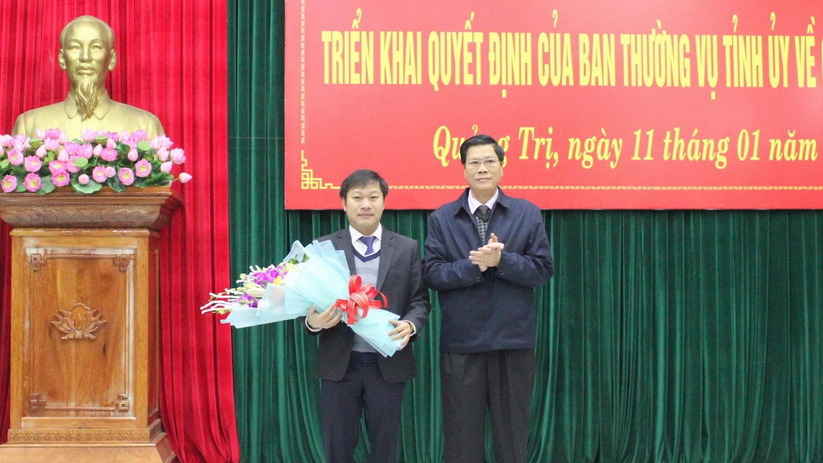 Bổ nhiệm ông Nguyễn Khánh Vũ làm Chánh Văn phòng Tỉnh ủy Quảng Trị
