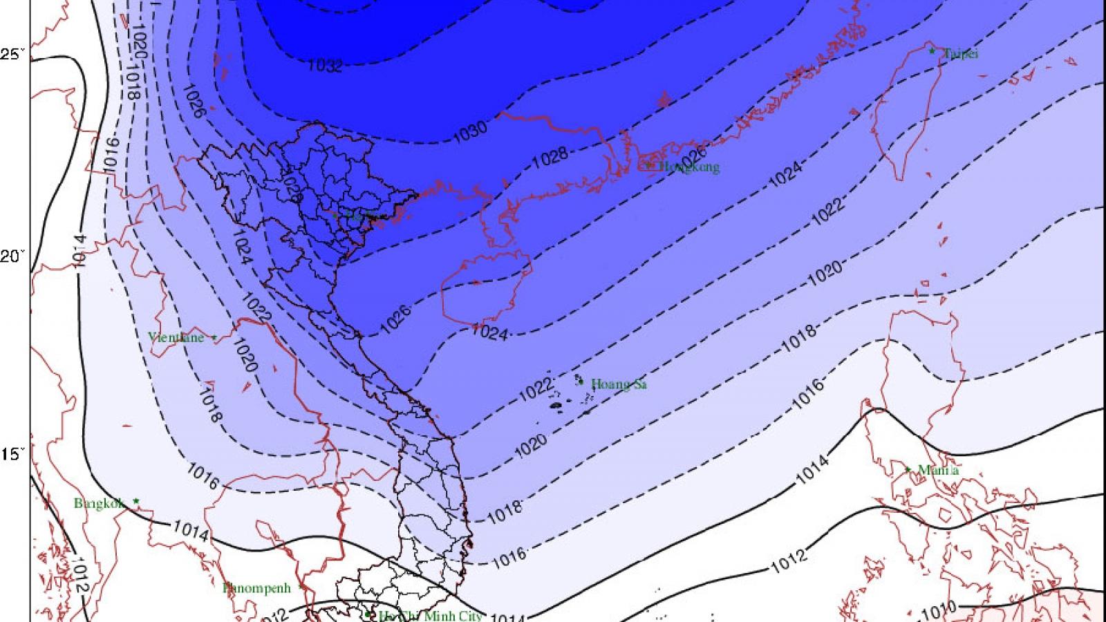 Không khí lạnh tăng cường, miền núi có khả năng xảy ra mưa tuyết, băng giá