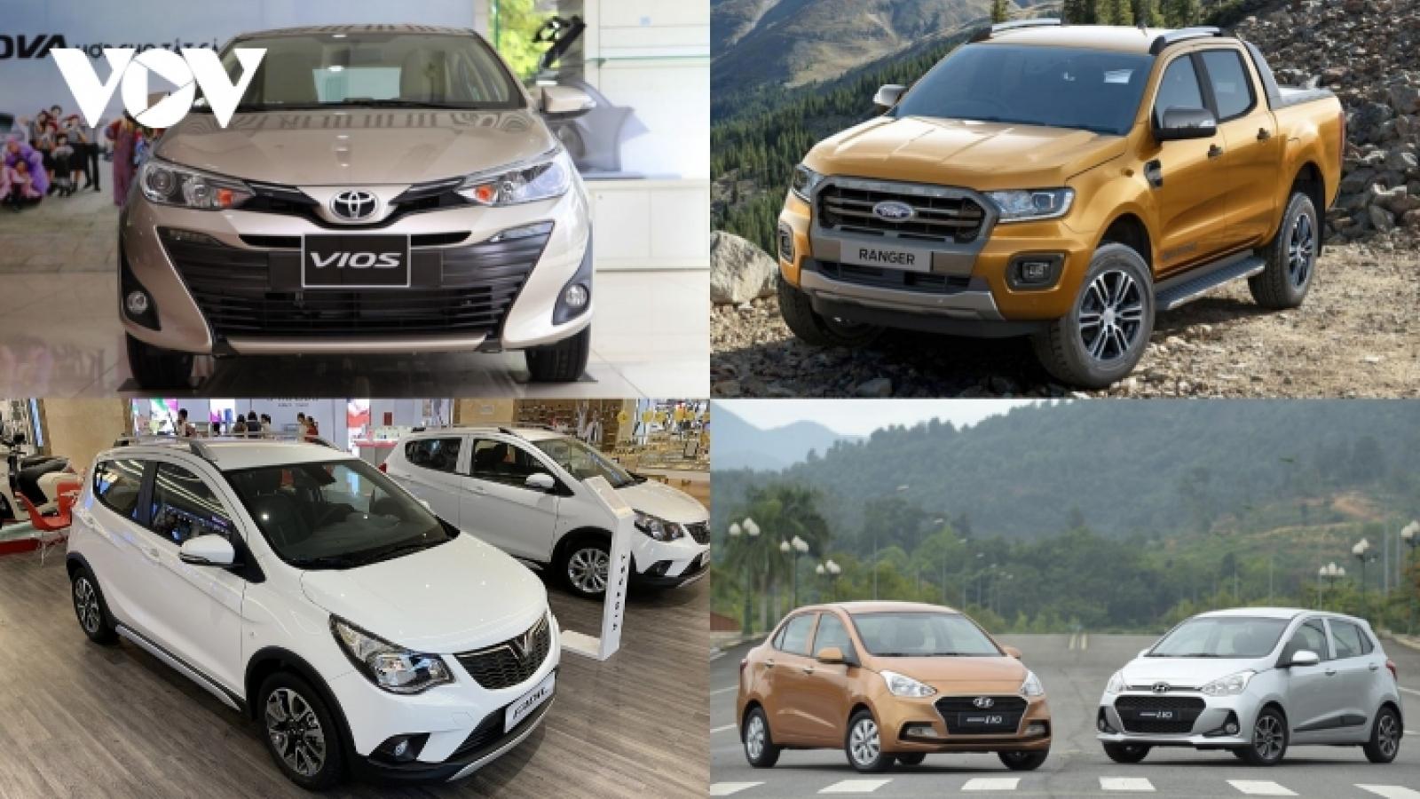 Top 10 mẫu xe bán được nhiều nhất năm 2020