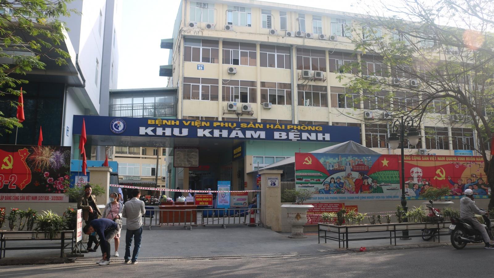 Phong tỏa BV Phụ sản Hải Phòng do liên quan đến BN 1833