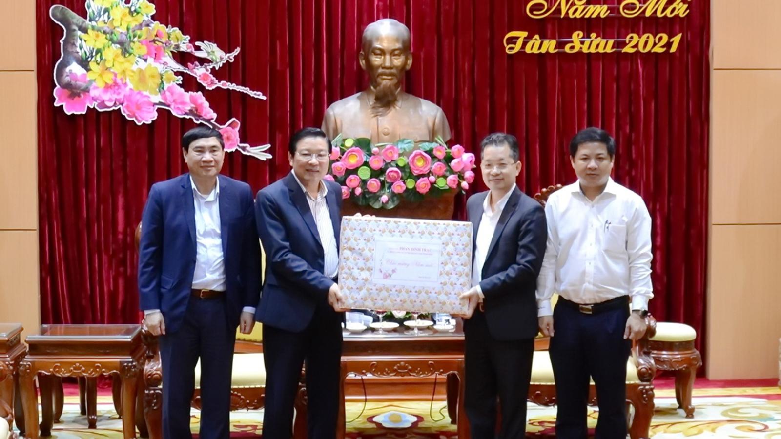 Trưởng Ban Nội chính Trung ương Phan Đình Trạc thăm, chúc Tết tại Đà Nẵng