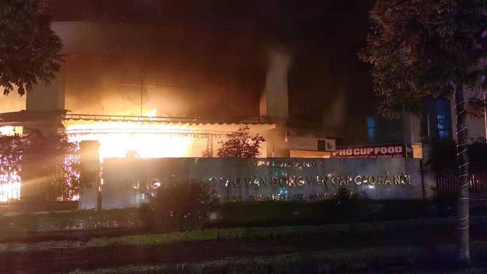 Cháy lớn ở Trung tâm huấn luyện vận động viên cấp cao trước Giao thừa