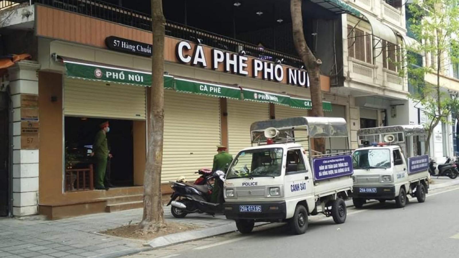 Xử lý các quán cà phê ở Hà Nội vi phạm quy định phòng chống dịch Covid-19