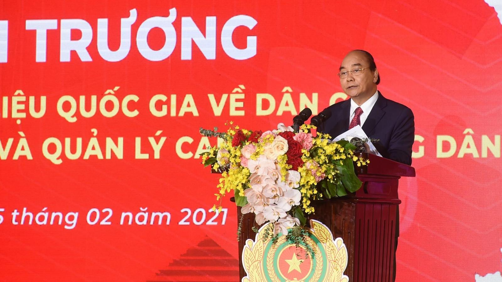 Thủ tướng dự Lễ Khai trương hệ thống Cơ sở dữ liệu quốc gia về dân cư