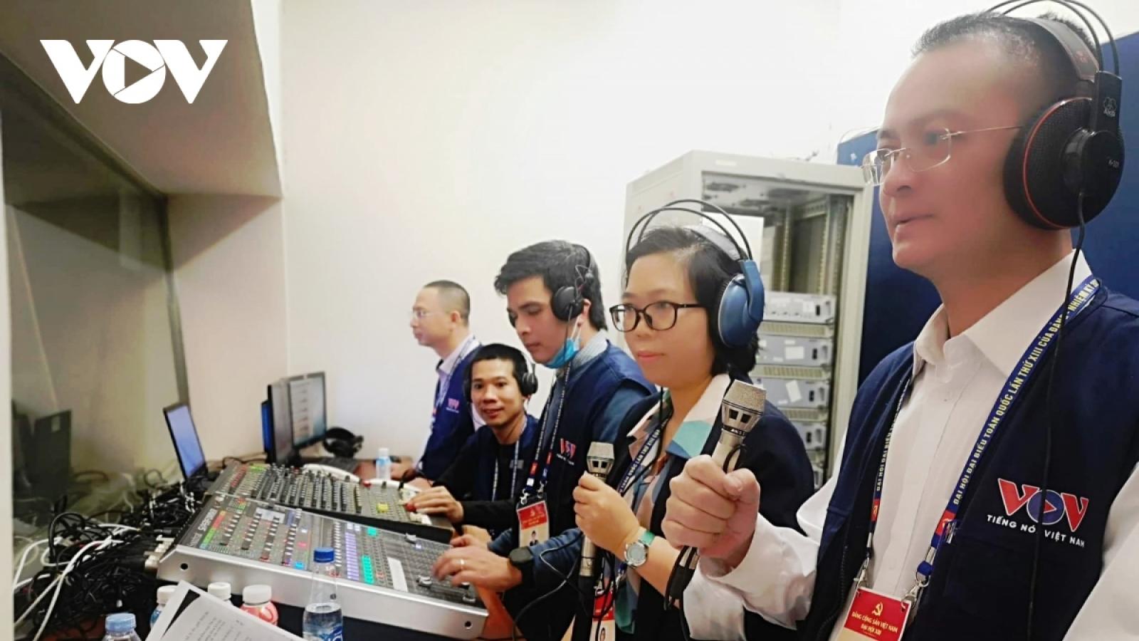 VOV lan tỏa mạnh mẽ tinh thần Đại hội XIII của Đảng đến công chúng