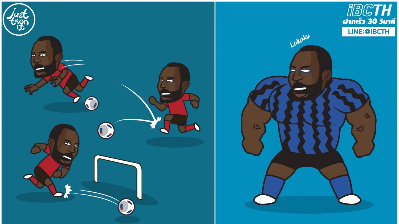 Biếm họa 24h: Lukaku trưởng thành hơn sau khi rời MU