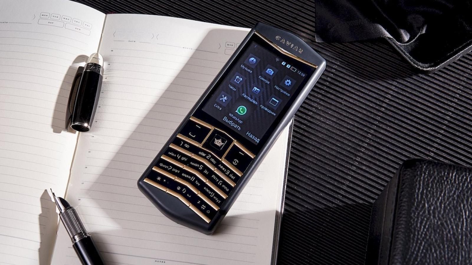 Caviar Origin - điện thoại cảm hứng Vertu, bàn phím mạ vàng