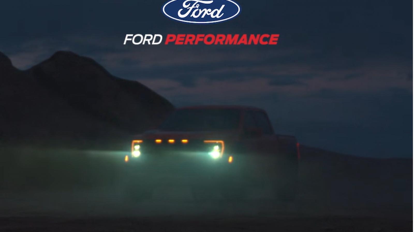 """Siêu bán tải Ford F-150 Raptor """"nhá hàng"""" trước thềm ra mắt"""