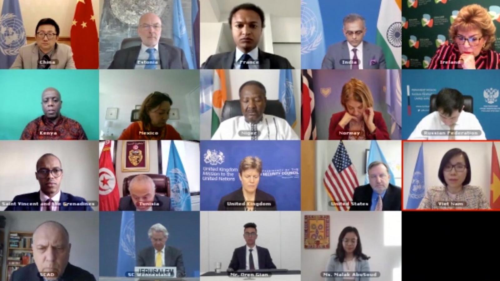 Hội đồng Bảo an Liên hợp quốc thảo luận về tình hình Trung Đông, bao gồm vấn đề Palestine