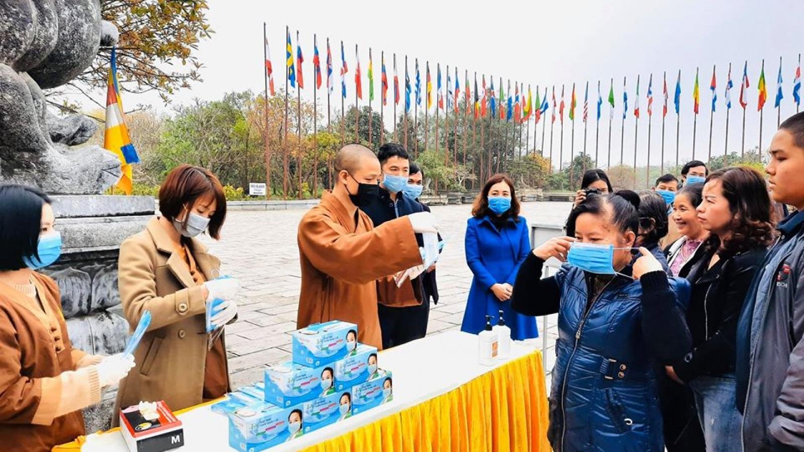 Mùa lễ hội Xuân Tân Sửu: Yêu cầu các chùa thực hiện nghiêm phòng chống dịch Covid-19