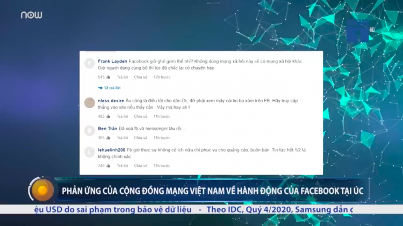 Cộng đồng mạng Việt Nam phản ứng về hành động của Facebook tại Australia
