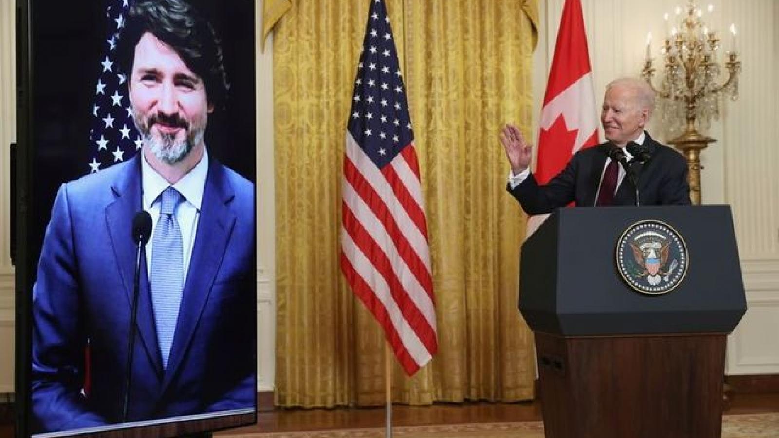 Mỹ và Canada cam kết tăng cường hợp tác chống ảnh hưởng của Trung Quốc