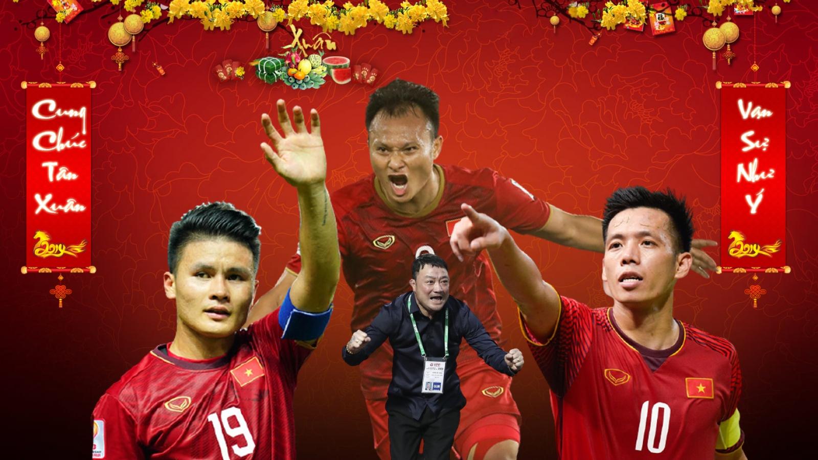 Dàn sao bóng đá Việt Nam và các HLV chúc Tết người hâm mộ cả nước