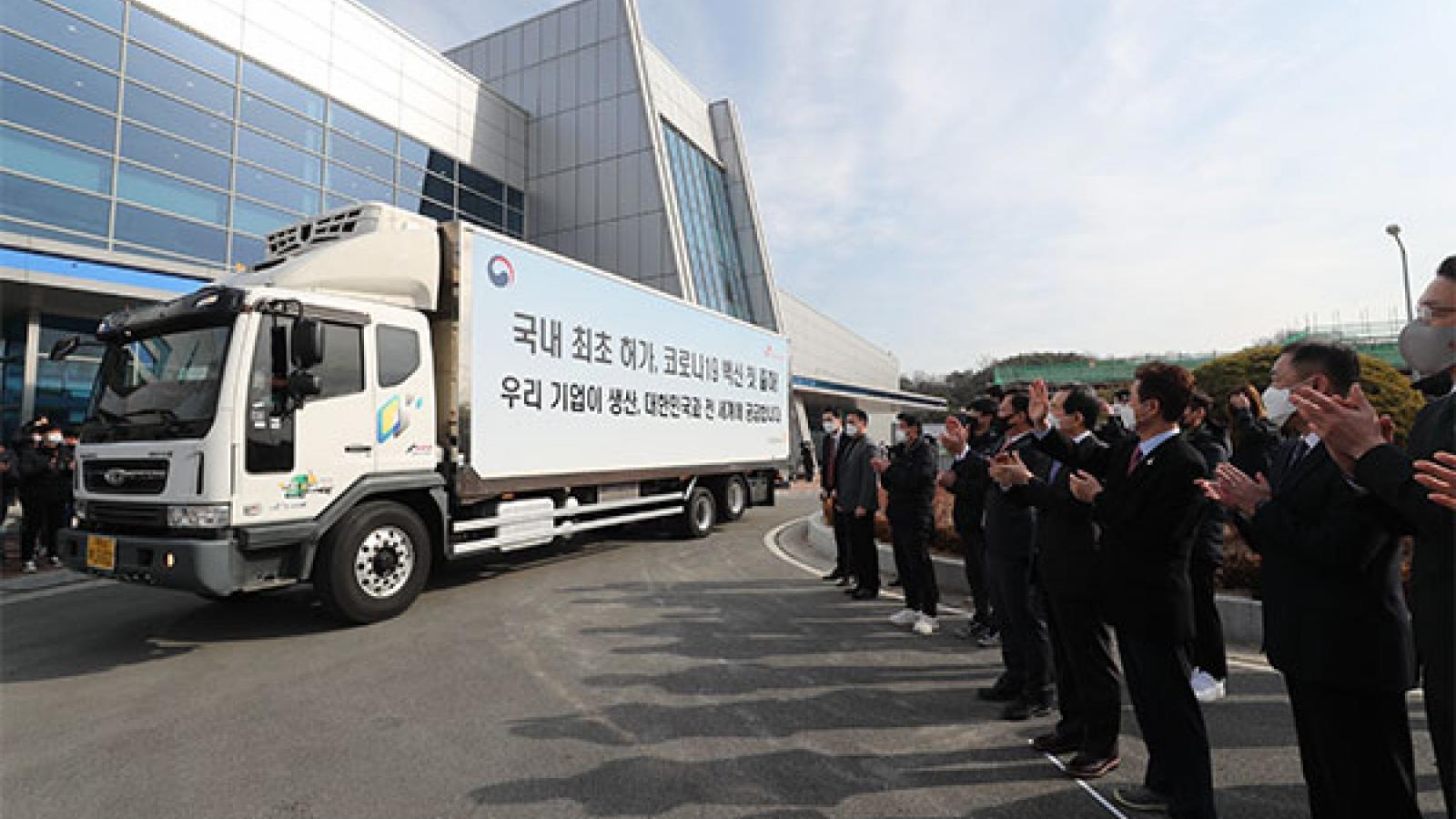 Lô vaccine Covid-19 đầu tiên của AstraZeneca tại Hàn Quốc được xuất xưởng