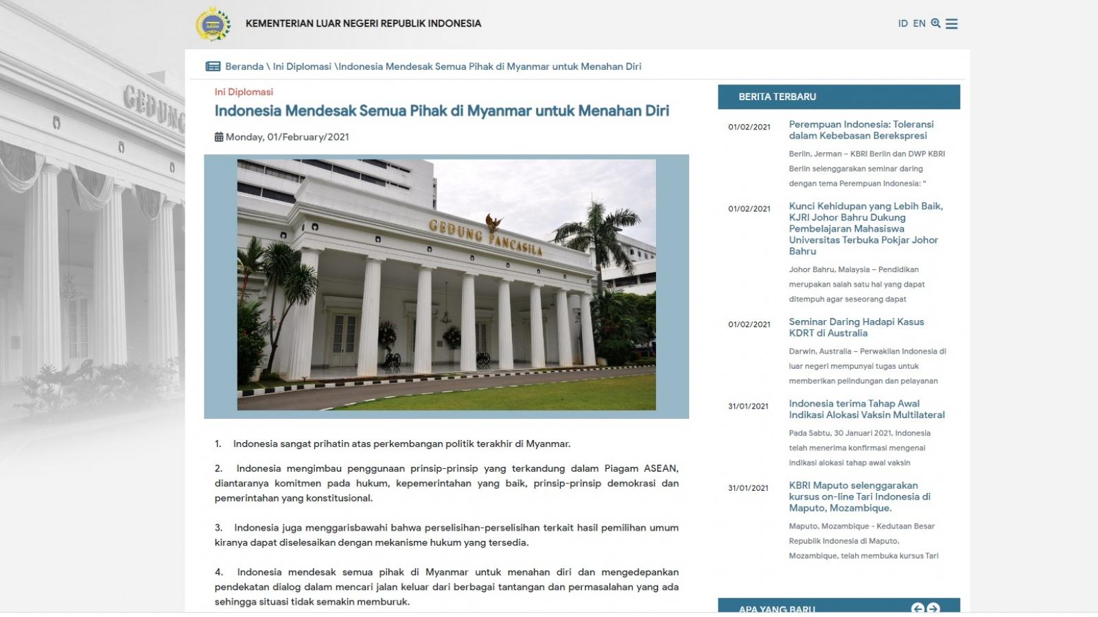 Phản ứng của Indonesia và Philippines về chính biến ở Myanmar