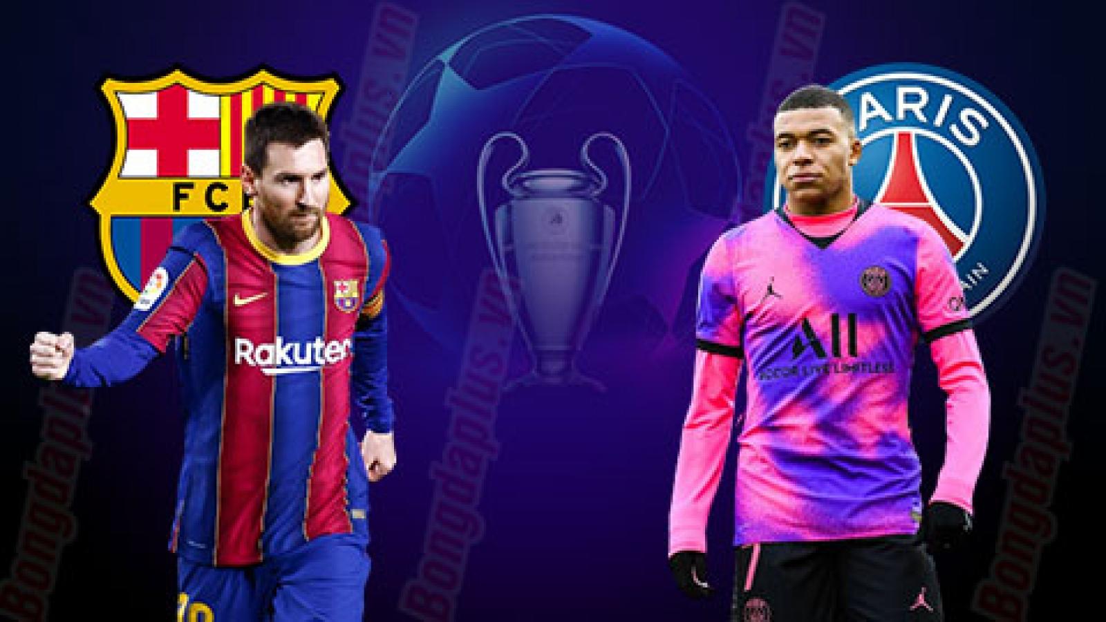 Lịch thi đấu cúp C1 châu Âu vòng 1/8: Barca quyết đấu PSG