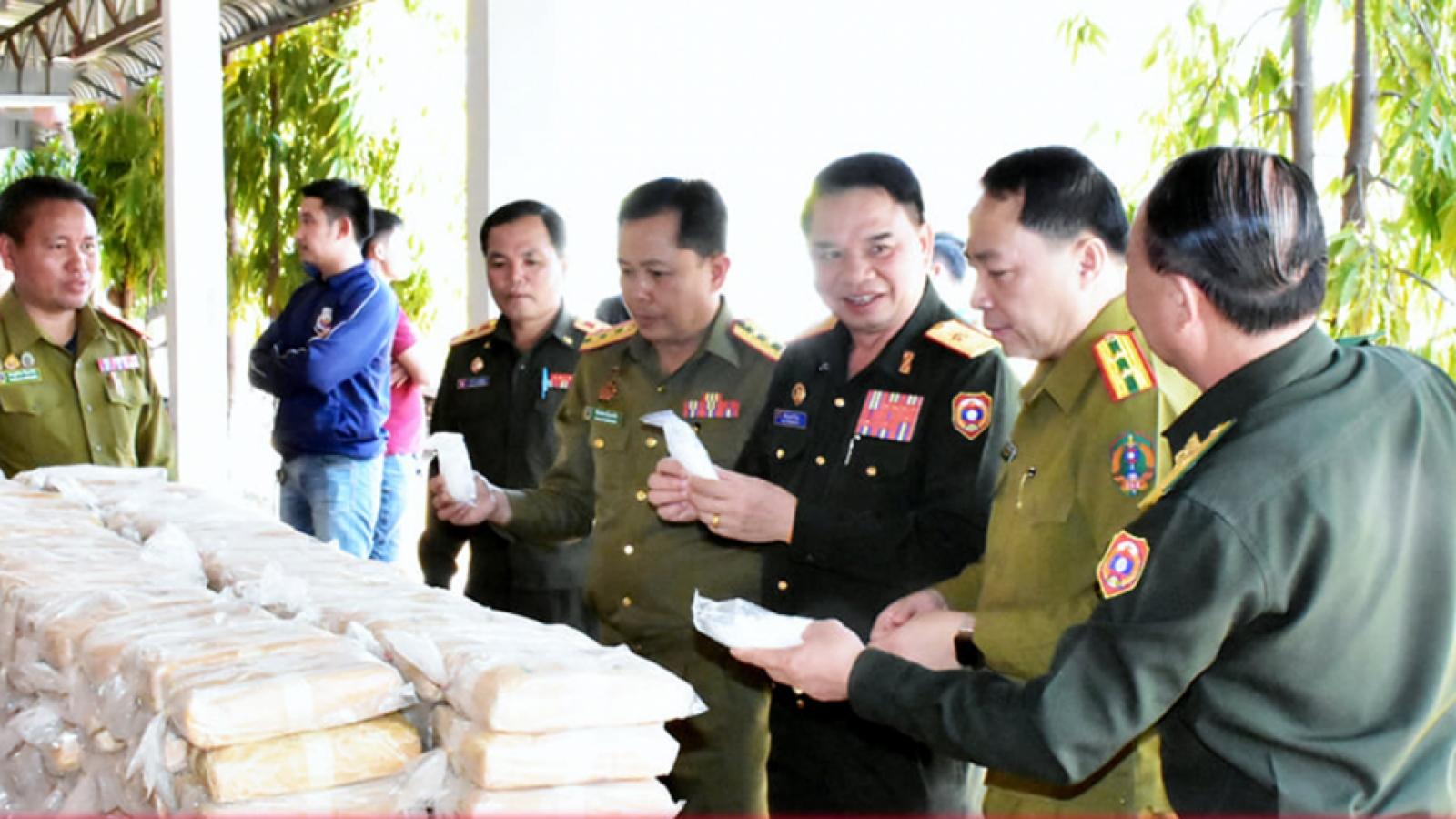 Công an tỉnh Savannakhet (Lào) phát hiện lượng ma túy lớn