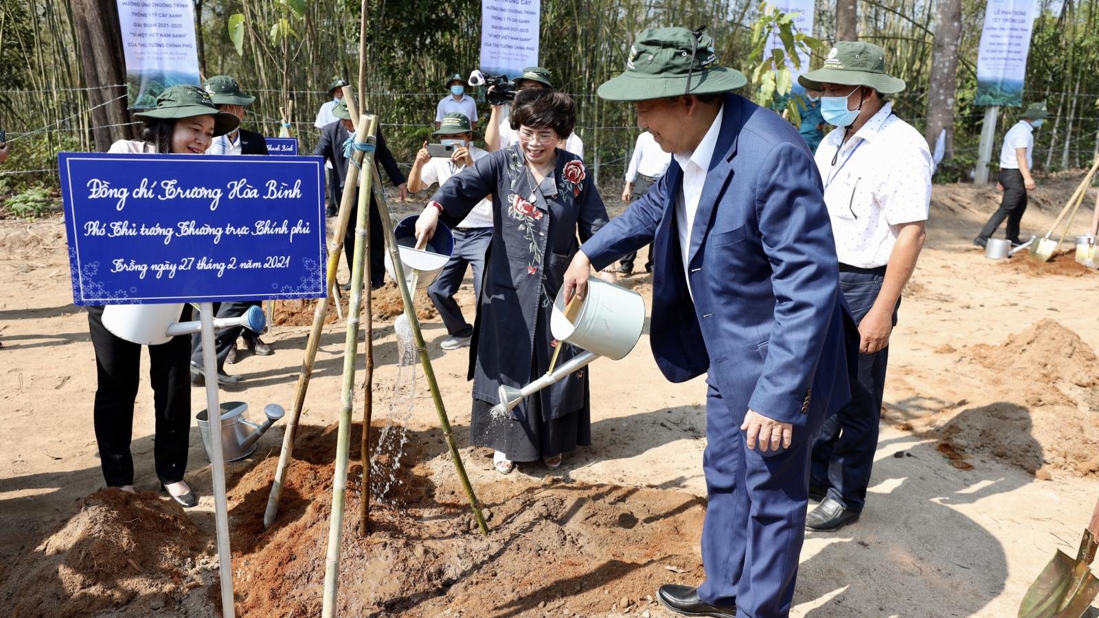 Phó Thủ tướng Trương Hòa Bình dự lễ Khởi công dự án bò sữa lớn nhất ĐBSCL tại An Giang