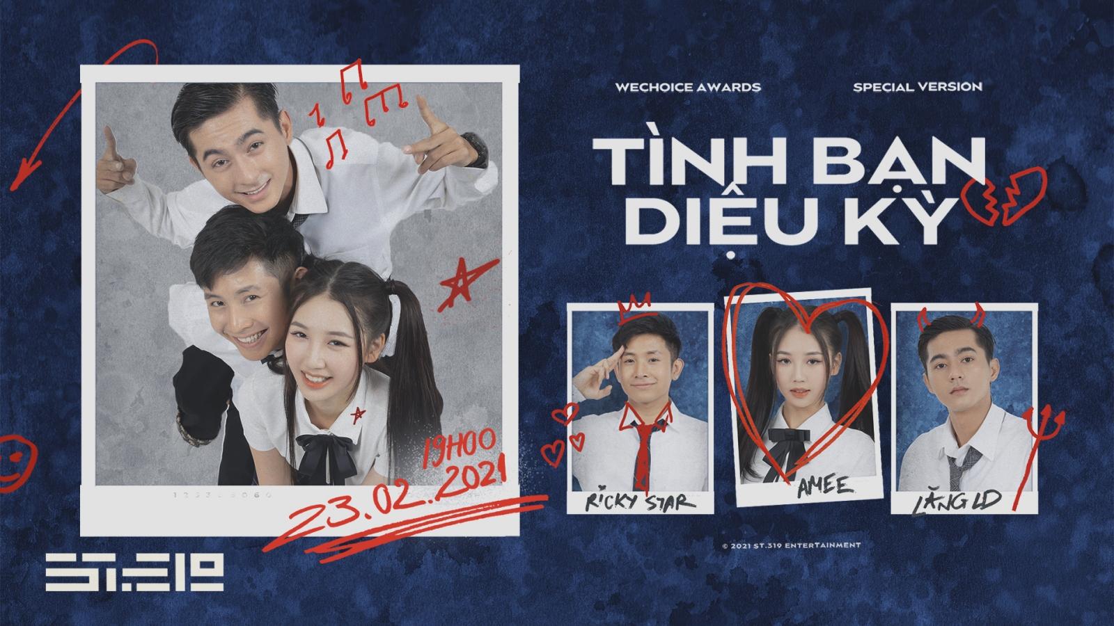 """MV """"Tình bạn diệu kỳ"""" của AMEE, Ricky Star, Lăng LD lên sóng với phiên bản đặc biệt"""