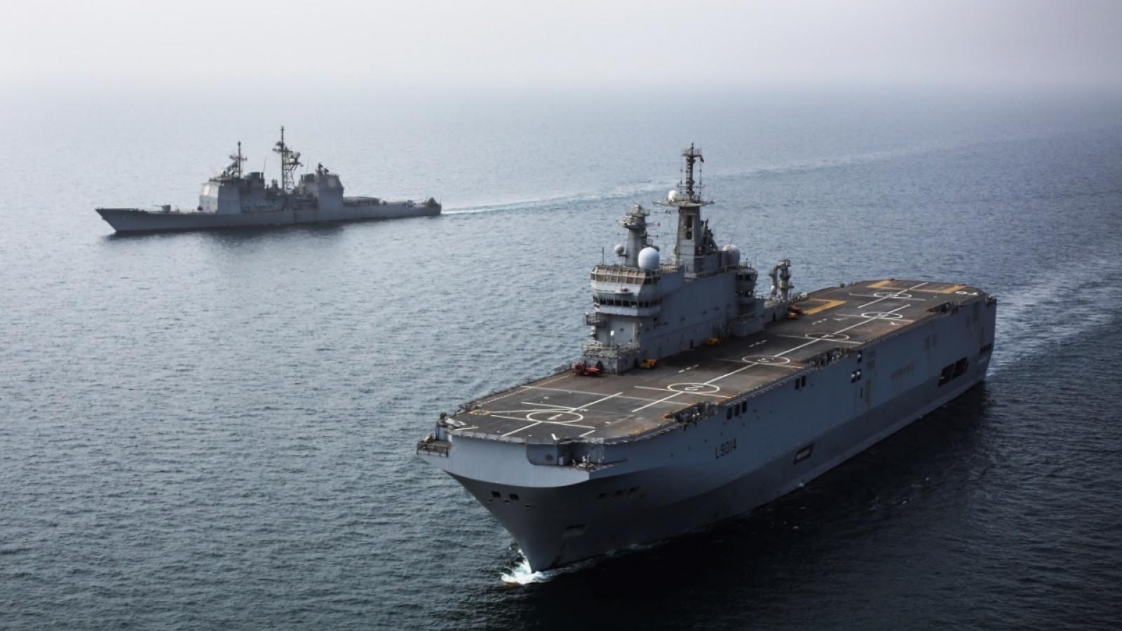 Pháp điều 2 tàu chiến tới Biển Đông