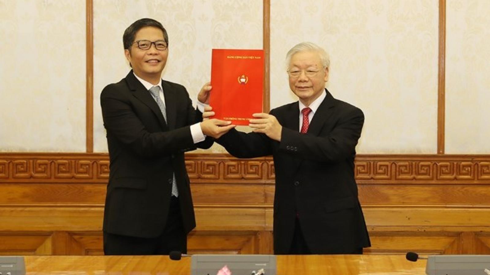 Ông Trần Tuấn Anh được Bộ Chính trị phân công giữ chức Trưởng ban Kinh tế Trung ương