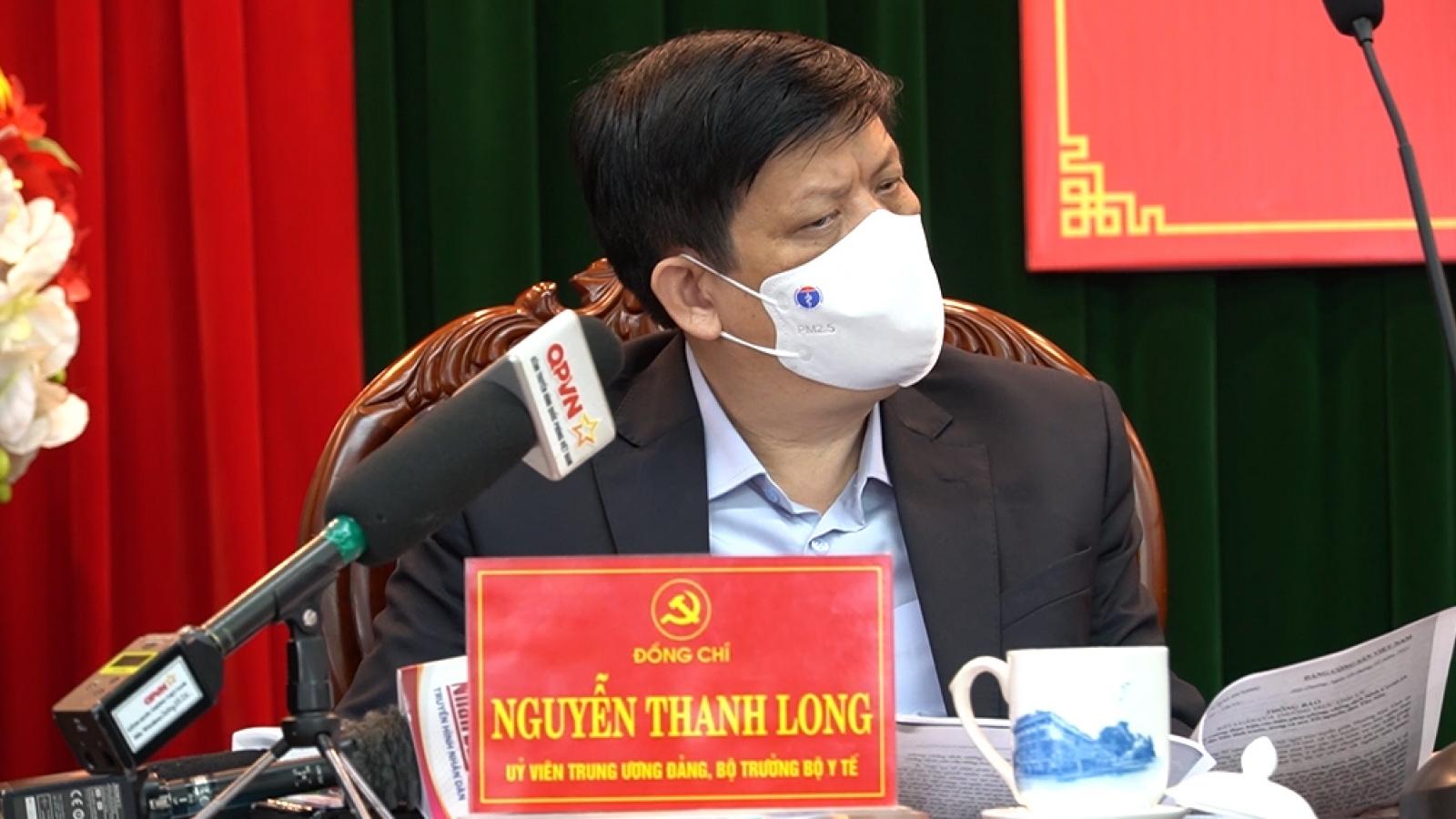 Bộ trưởng Bộ Y tế: Đề nghị Hải Dương áp dụng chỉ thị 16 ở diện rộng hơn