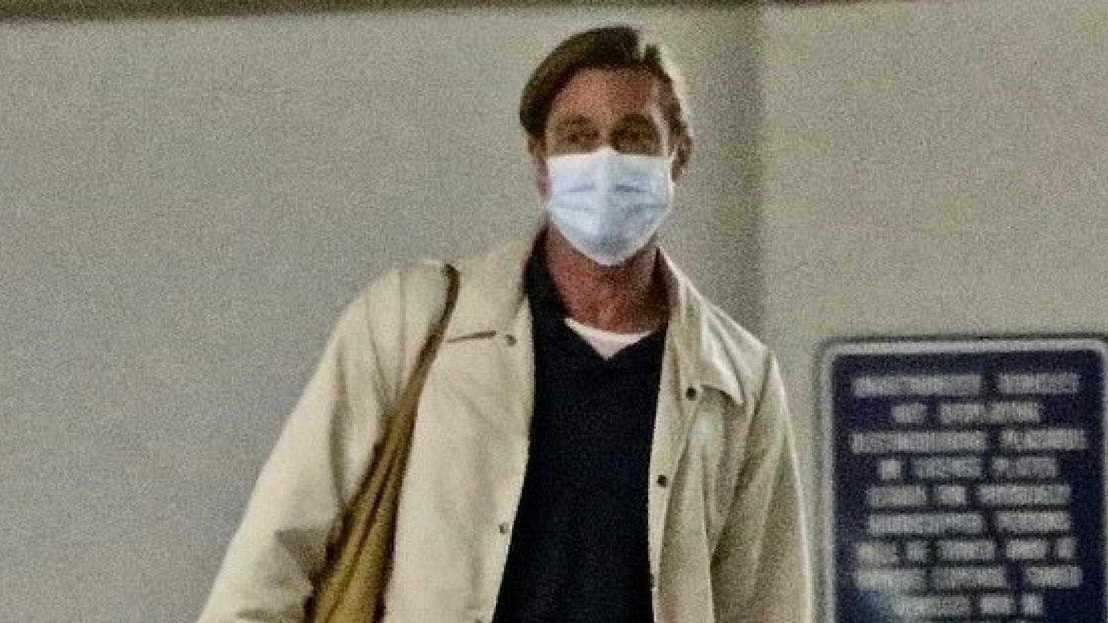 Brad Pitt buộc tóc, diện mạo khác lạ sau cuộc chiến ly hôn