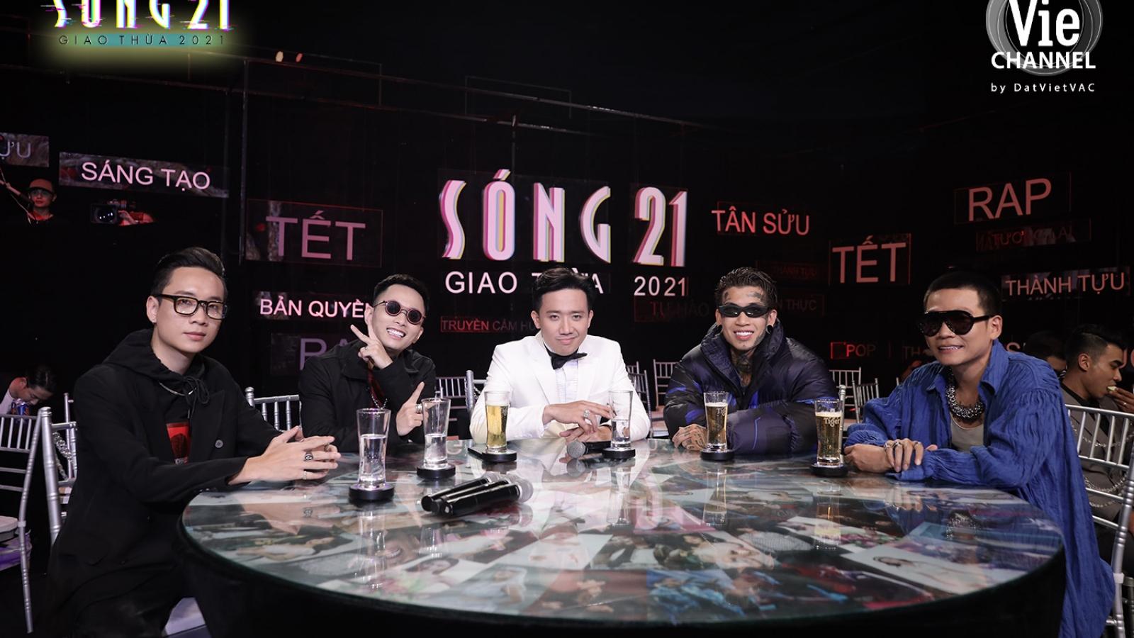 """JustaTee, Rhymastic, Wowy cùng dàn thí sinh Rap Việt hội ngộ tại chương trình """"Sóng 21"""""""