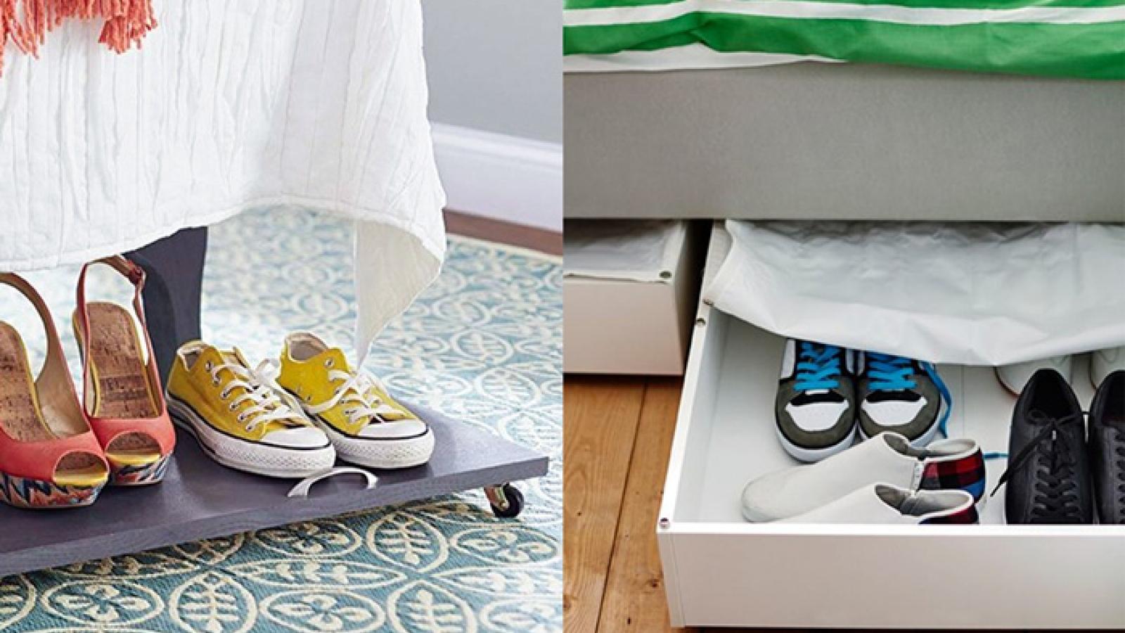 Những ý tưởng giá để giàygiúp không gian gọn gàng, xinh xắn