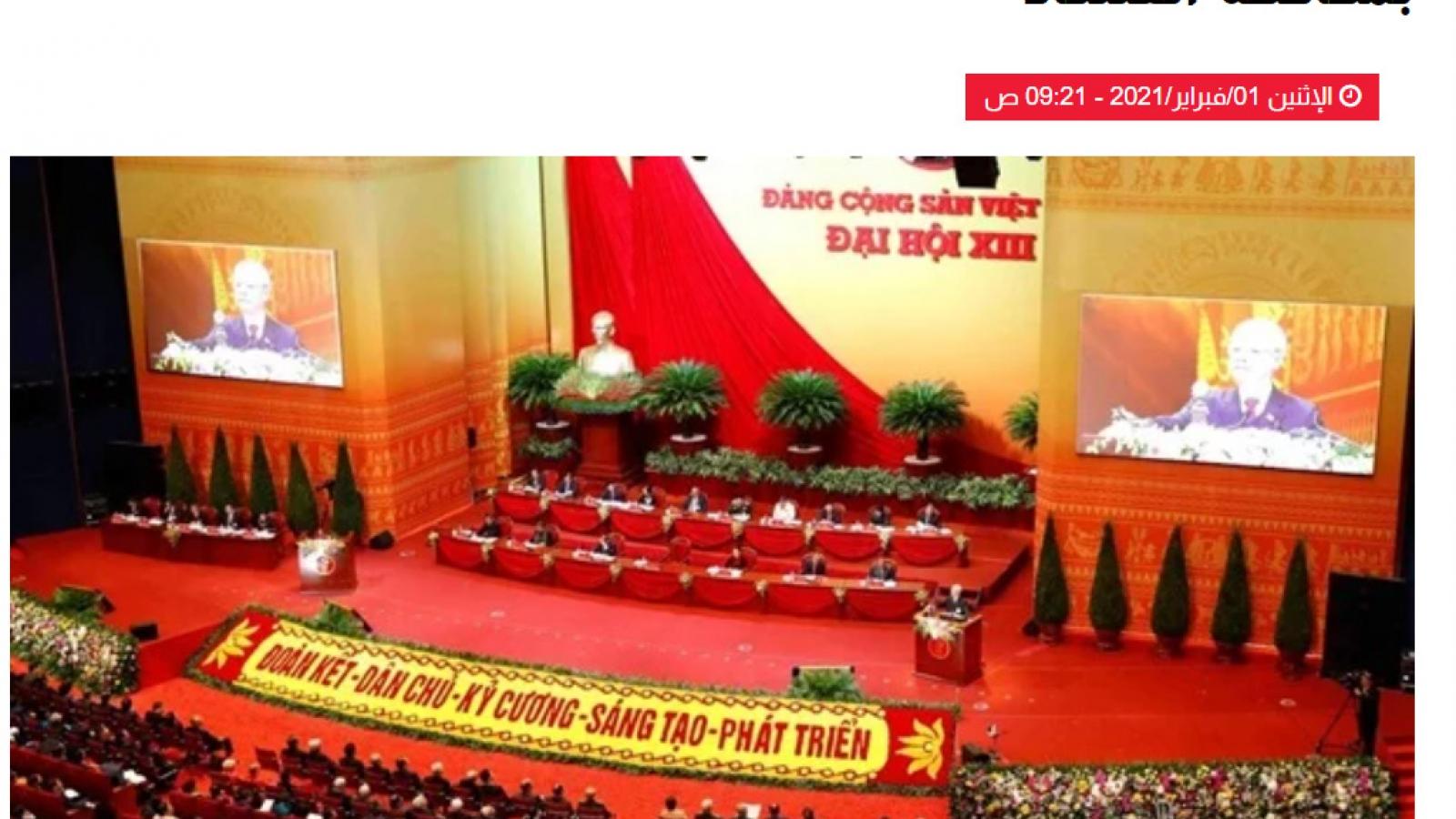 Báo chí A-rập phản ánh đậm nét kết quả thành công Đại hội XIII của Đảng