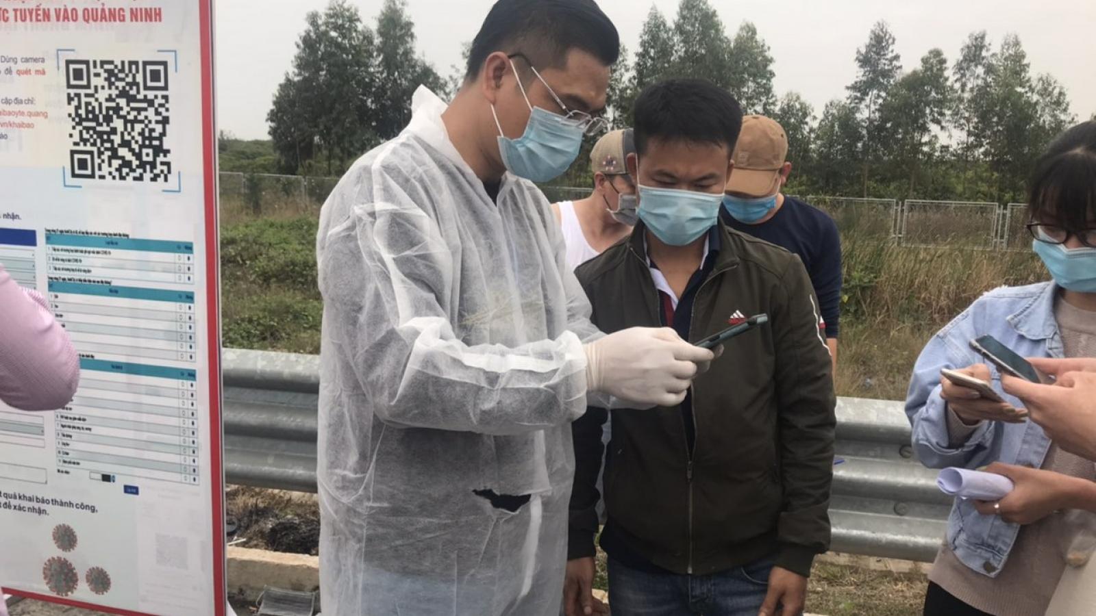 Khai báo y tế điện tử đẩy nhanh quá trình kiểm soát người ra vào tỉnhQuảng Ninh