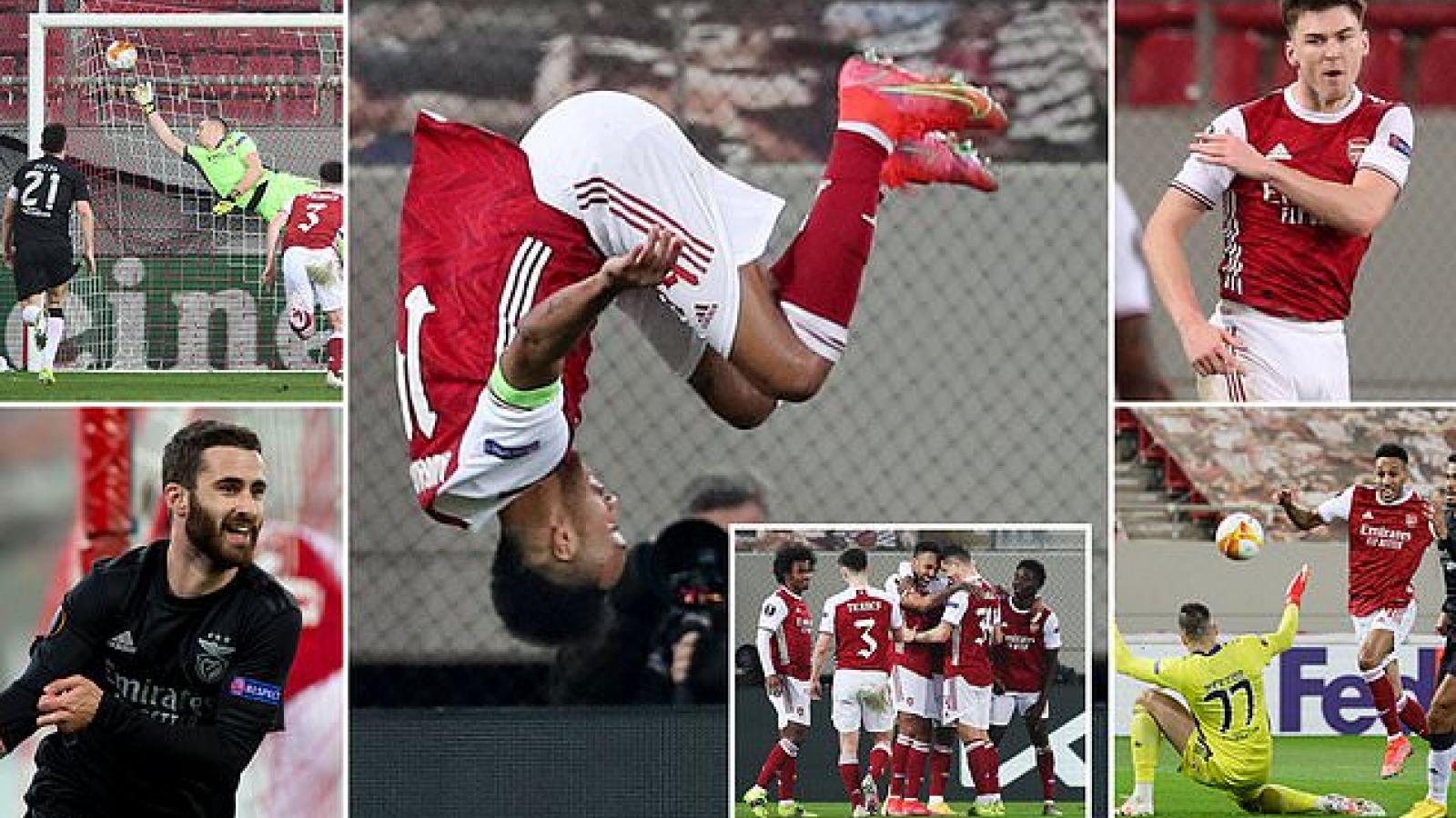 Arsenal 3-2 Benfica: Aubameyang tỏa sáng, Pháo thủ lội ngược dòng nghẹt thở