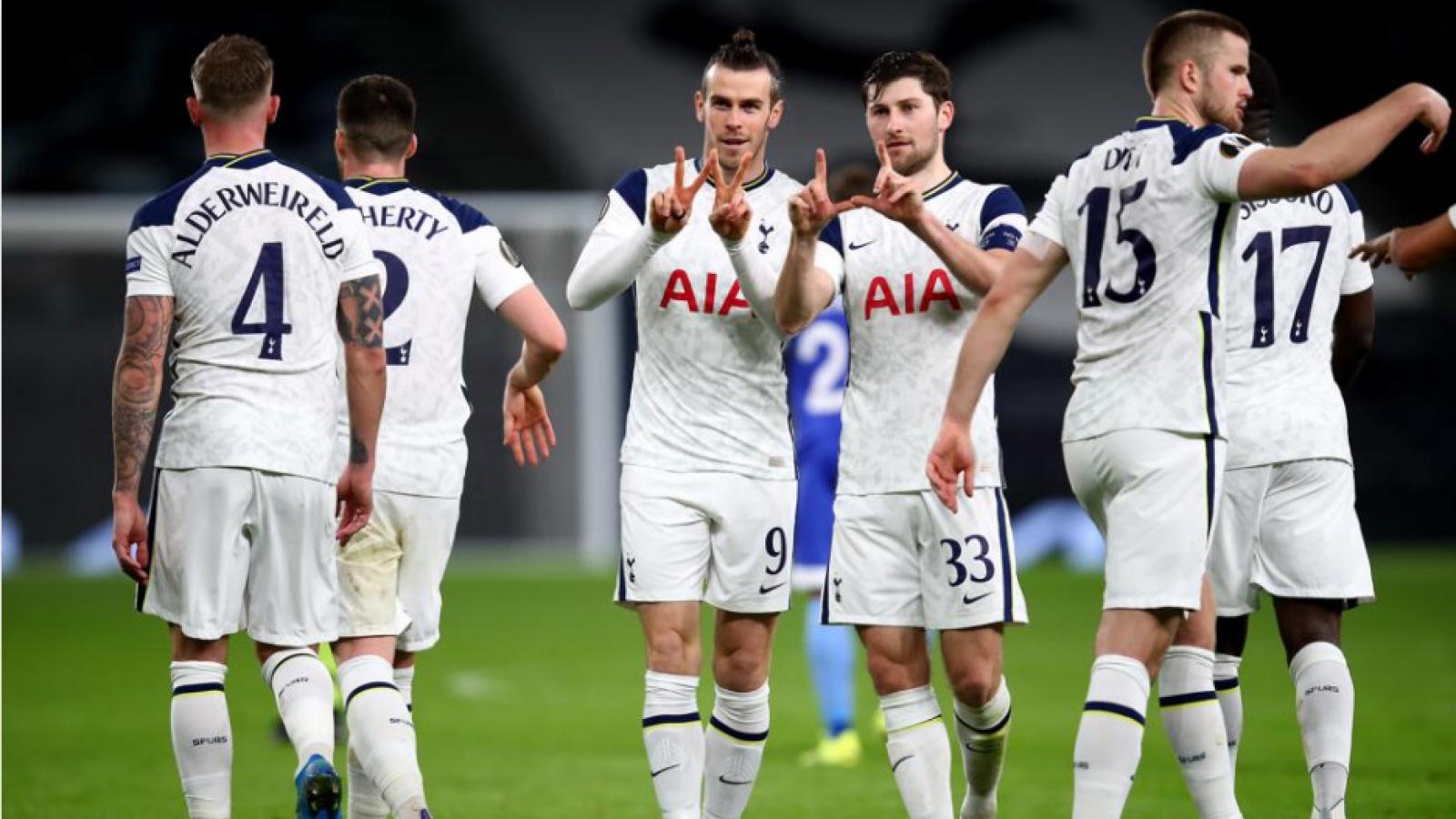 Bale và Alli tỏa sáng, Tottenham giành vé đầu tiên vào vòng 1/8 Europa League