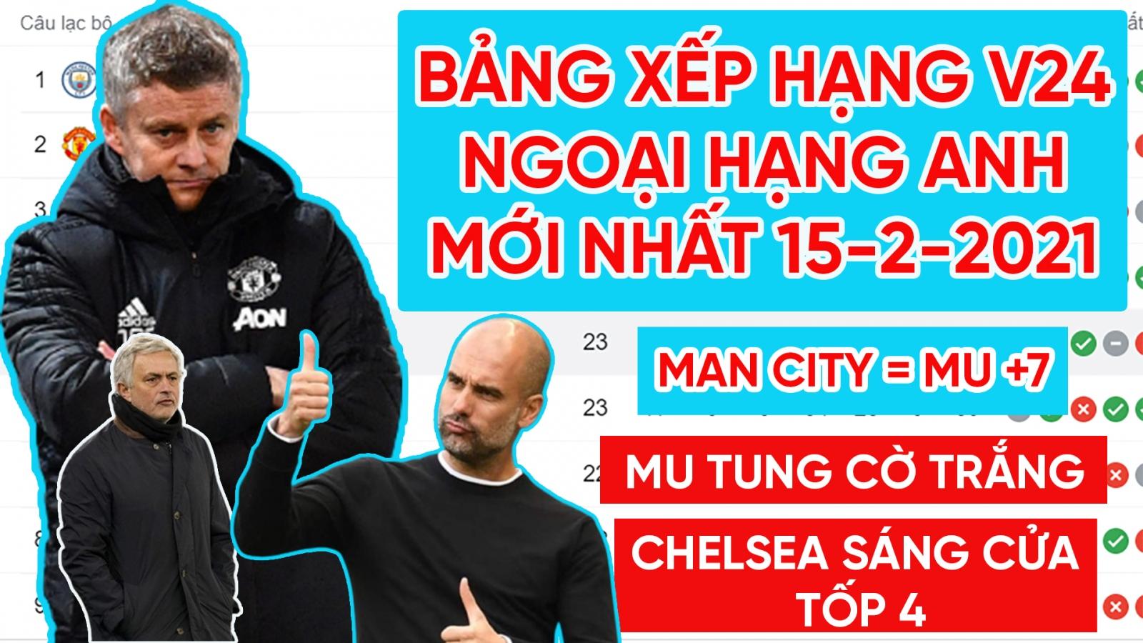 Bảng xếp hạng Ngoại hạng Anh mới nhất: MU tung cờ trắng, Chelsea rộng cửa vào tốp 4