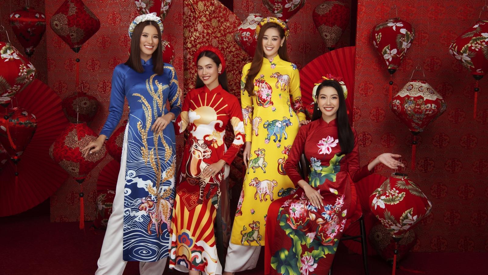 Hoa hậu Khánh Vân, Á hậu Kim Duyên rạng ngời trong bộ ảnh Tết Tân Sửu 2021